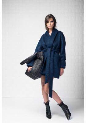 Belted   midi wool  coat