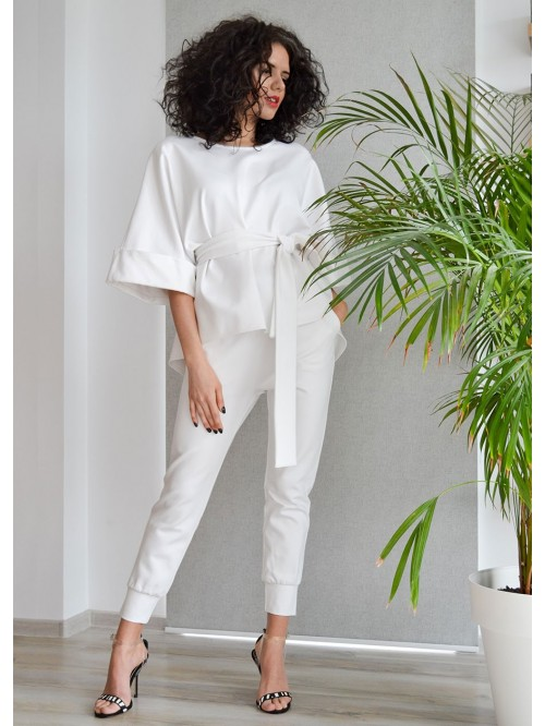 Two Pieces: Blouse And Trousers