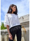 Oversize top with belted waist