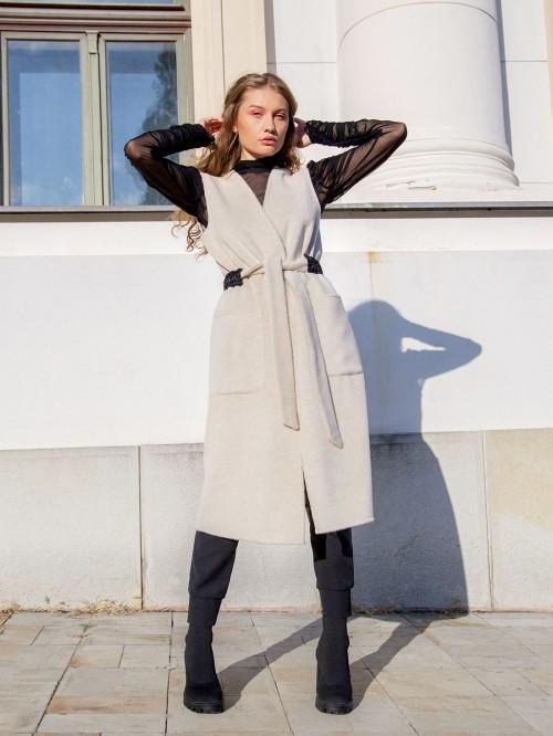 Wool Midi Vest