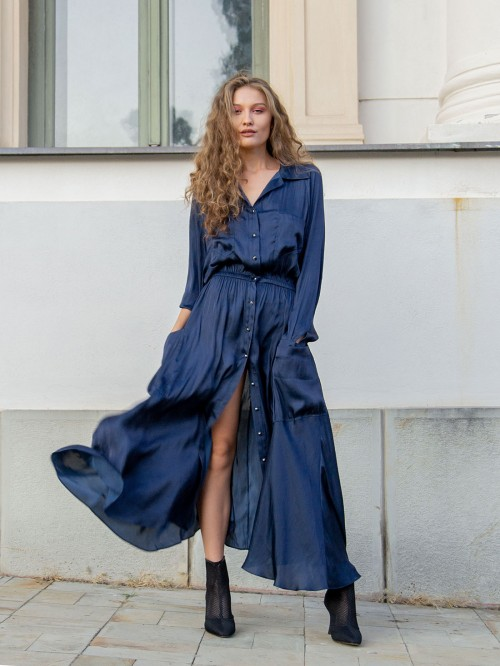 Rochie lunga tip camasa