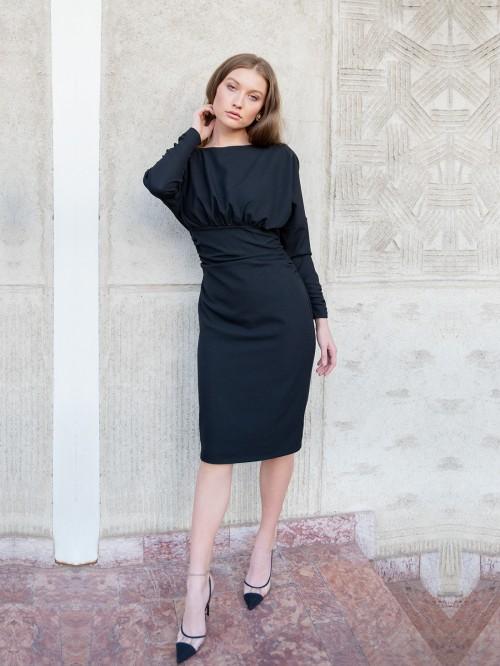 Rochie eleganta cu maneci lungi si spate gol