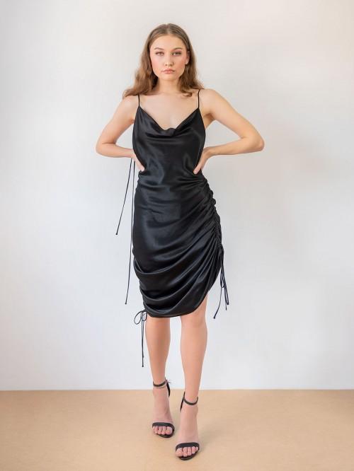 Rochie cu sireturi laterale reglabile si spate gol